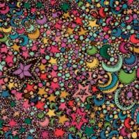 Paradiso - Retro Cosmic Moons and Stars by Sally Kelley (Digital)