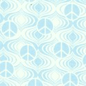 Fandango - Blue Tone on Tone Mini Peace Signs