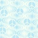 Fandango - Blue Tone on Tone Mini Peace Signs