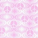 Fandango - Pink Tone on Tone Mini Peace Signs