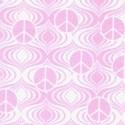 Fandango - Pink Tone on Tone Mini Peace Signs