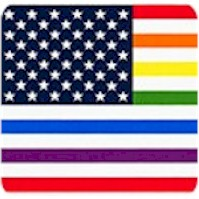 Price Rainbow Flag Panel - PRICED AND SOLD BY THE FULL PANEL ONLY