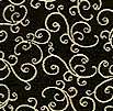 Elegant Metallic Gold Scroll on Black