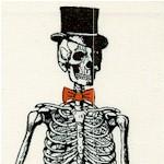Chillingworth's Spooky Ride - Formal Skeletons on Ivory