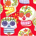 Mini Calaveras on Red - BACK IN STOCK!