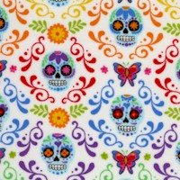 The Day of the Dead Mariposas on Ivory