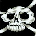 Hula Skulls and Crossbones on Black