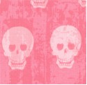 Geekly Chic - Rows of Pink Skulls on Pink