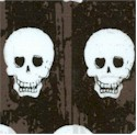 Geekly Chic - Skulls on Black and Brown- LTD. YARDAGE AVAILABLE