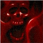 Skulls on Fire - Red