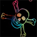 To the Extreme - Tossed Rainbow Skulls and Crossbones