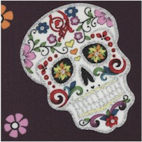 Calaveras - Day of the Dead Skulls with Glitter