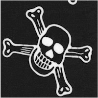 To the Extreme - Tossed Skulls and Crossbones in Black and White