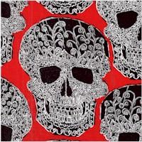 Art Skull on Red