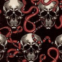 Skull Snakes on Black