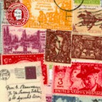 Air Mail/1930's - Packed Vintage Postage Stamps by Karen Rati
