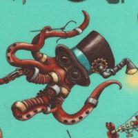 Steampunkery - Fantastic Undersea Creatures on Aqua