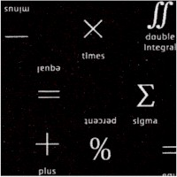 Musings - Greek and Mathematical Symbols in White on Black