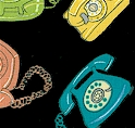 Really Really Retro - Tossed Telephones by Johansen Newman