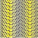 Visual Arts Simply Simple Quilts Black and Yellow Dot Stripe by Ro Gregg