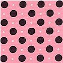 Cameo Appearances - Black and Metallic Silver Dots on Pink