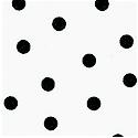 Masquerade - Tossed Black Polka Dots on Ivory - LTD. YARDAGE AVAILABLE