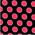 Doll Babies - Pink Dots on Black  by Barbara Jones