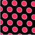 Doll Babies - Pink Dots on Black  by Barbara Jones