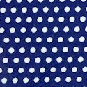 Rosie the Quilter - White Polka Dots on Blue