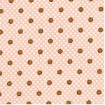 Lilly and Will - Cocoa Brown Polka Dot on Pink by Bunny Hill Designs