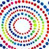Geo - Pointillist Style Circles on White