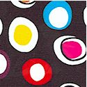 Hippie Chicks - Tossed Colorful Dots on Black