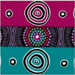 Desert Flowers - Aboriginal Stripe by Marie Elena Ellis