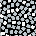 Delilah - Mosaic Tiles in Grey and White on Black by Johnny Karwan