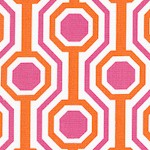 Dolce - Geometric Design in Fuschia  Orange and Ivory by Tanya Whelan