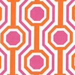 Dolce - Geometric Design in Fuschia  Orange and Ivory by Tanya Whelan