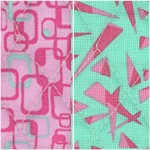 Reversible Quilted, Graphics 3 in Pink and Green