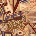 Tivoli - Klimt Inspired Metallic Geometric Design