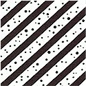 Barnyard Boogie - Diagonal Stripes and Dots by Tricia Cribbs - LTD. YARDAGE AVAILABLE