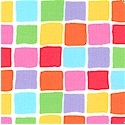 Fiesta - Colorful Mini Squares by Dreaming Bear Designs