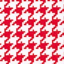 Essentials VII - Red and White Houndstooth