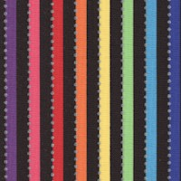 Becolorful - Rainbow Stripe on Black with Silver Metallic