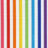Becolorful - Rainbow Stripe on White with Silver Metallic