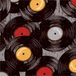 Sounds of Music - Tossed Record Albums on Gray