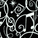 Music to My Ears - Musical Notes and Symbols on Black