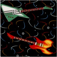 Rock Star Hero - Tossed Electric Guitars by Fresh Designs