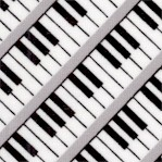 Three Quarter Time - Diagnal Keyboards in Black and White