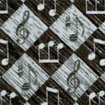 Let the Music Play - Black and Gray Argyle