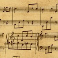 Wind Symphony - Vintage-look Musical Manuscript by Cynthia Coulter