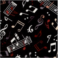 The Beat Goes On - Musical Notes and Symbols on Black